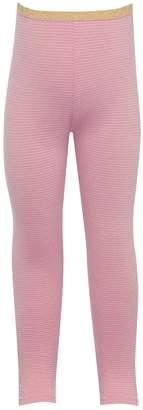 M&Co Glitter stretch waist ribbed leggings