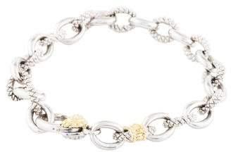 Judith Ripka Fontaine Logo Link Bracelet
