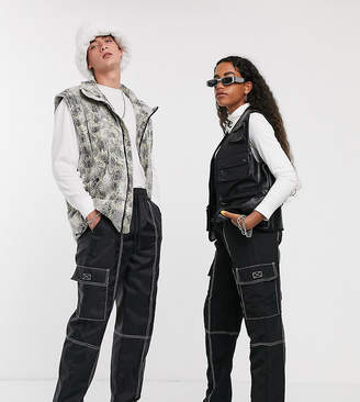 Collusion COLLUSION Unisex nylon pants with contrast stitch