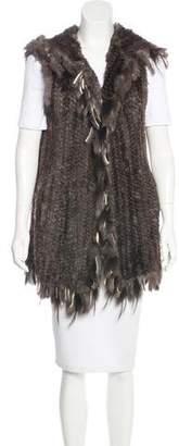 Belle Fare Rabbit Fur Knit Vest