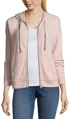 PINK ROSE Pink Rose Long Sleeve Knit Hoodie-Juniors
