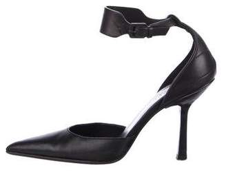 Gucci Pointed-Toe Ankle Strap Pumps