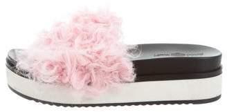 Blood & Honey Shearling Slide Sandals