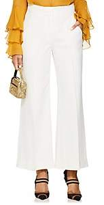 Derek Lam Women's Crepe Crop Wide-Leg Trousers - White