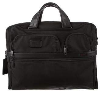Tumi Leather-Trimmed Alpha 2 Briefcase