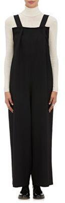 Yohji Yamamoto Women's Wool Drop-Rise Overalls-BLACK $1,460 thestylecure.com