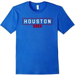 Houston 713 Shirt / White Blue Houston Texas Sign