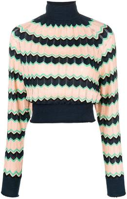 M Missoni cropped rollneck sweater