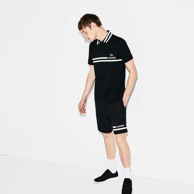 Herren SPORT Tennis-Poloshirt mit Kontraststreifen