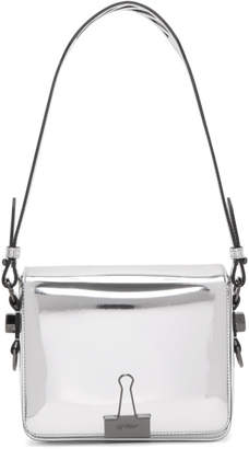 Off-White Silver Mirror Flap Bag