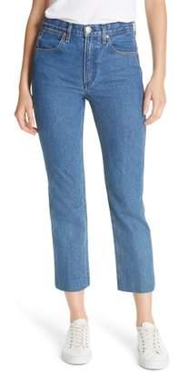 Rag & Bone High Waist Crop Straight Leg Jeans