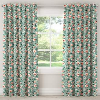 Skyline Furniture Cloth & Co. Unlined Lucha Rose Conifer Light Filtering Curtain