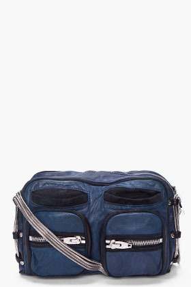 ALEXANDER WANG Navy Brenda Zip Chain Bag