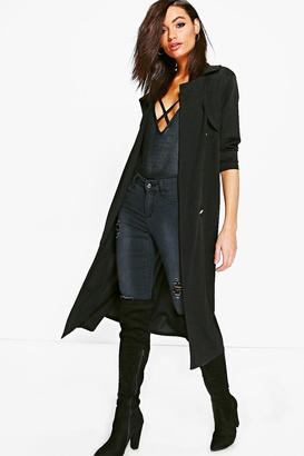 boohoo Molly Double Breasted Midi Trench $35 thestylecure.com