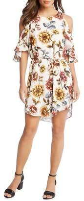Karen Kane Kane Kane Cold Shoulder Floral Dress