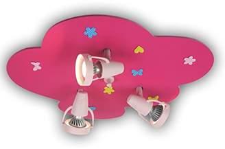 Niermann Standby 612 GU10 35 Watt 3-Spots Filly Unicorn Ceiling Spotlight, Magenta