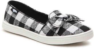 Rocket Dog Popper Toddler & Youth Slip-On Sneaker -Black/White Plaid - Girl's