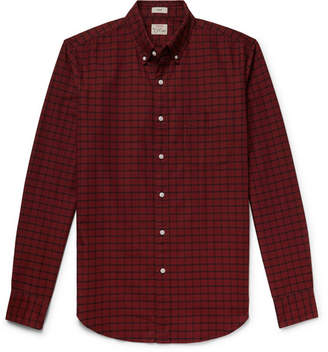J.Crew Slim-Fit Button-Down Collar Checked Pima Cotton Oxford Shirt - Men - Red