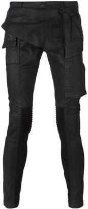 Rick Owens coated skinny jeans