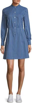 A.P.C. Lili Striped Cotton Shirtdress