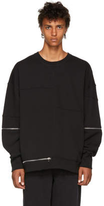 Alexander McQueen Black Zippered Sweatshirt