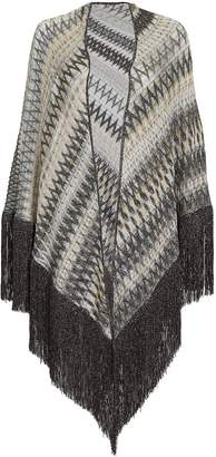 Missoni White Metallic Dark Shawl