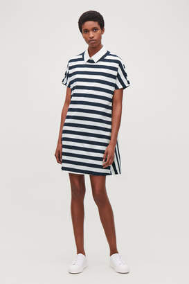 Cos A-LINE STRIPED JERSEY DRESS