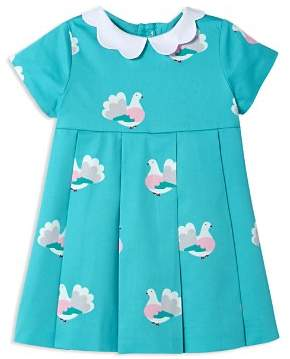Jacadi Girls' Pleated Bird-Print Dress - Baby