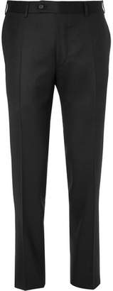 Canali Black Super 120s Wool Trousers
