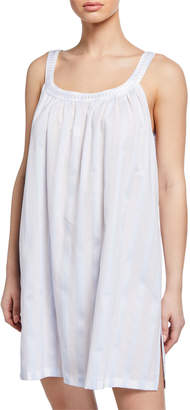 Daliah Sleeveless Celestine Satin Striped Babydoll Nightgown