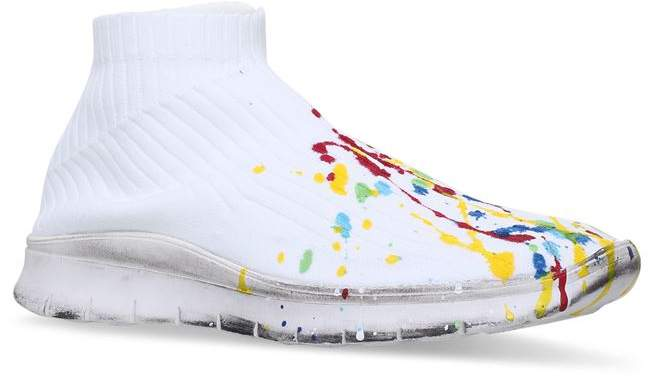 Paint-Splattered Sock Sneakers