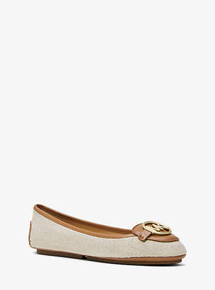 Michael Kors Lillie Canvas And Leather Moccasin