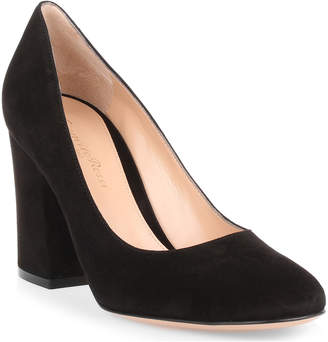Gianvito Rossi Black 85 suede pump