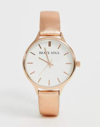 Brave Soul ladies watch with metallic strap