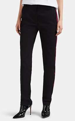 Heron Preston Women's Striped Cotton High-Rise Slim Trousers - Black