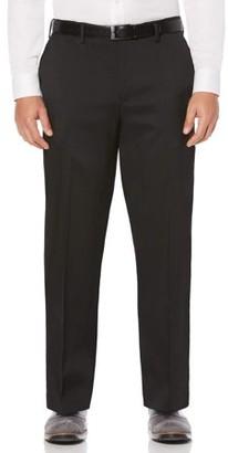 Savane Big & Tall Flat Front Stretch Crosshatch Dress Pant