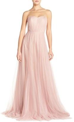 Women's Monique Lhuillier Bridesmaids Strapless Tulle Gown $298 thestylecure.com