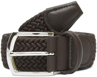 Anderson's Leather Trimmed Elasticated Woven Belt