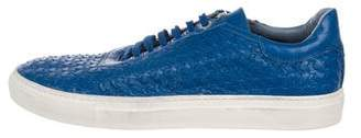 Cesare Paciotti Woven Leather Sneakers