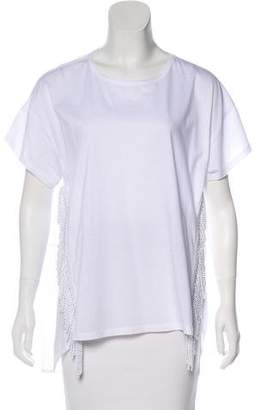 Alice McCall Fringe-Trimmed Short Sleeve Top w/ Tags