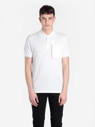 Raf Simons Fred Perry X FRED PERRY X MEN'S WHITE SPACE POCKET POLO SHIRT