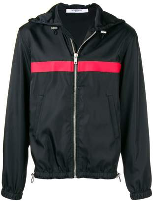 Givenchy stripe detail hooded jacket