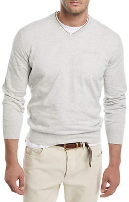 Brunello Cucinelli V-Neck Cotton Sweater