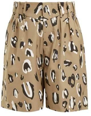 Charles Jeffrey Loverboy - Leopard Print High Rise Shorts - Womens - Leopard