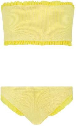 b0bef445f5c Ruffle Strapless Swimsuit - ShopStyle