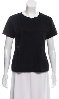 Hermes Embroidered Short Sleeve T-Shirt