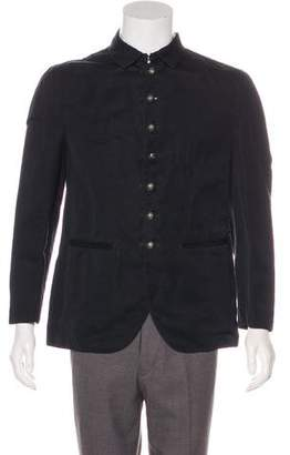 John Varvatos Spread Collar Button-Up Jacket