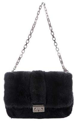 Christian Dior Mink and Persian Lamb Miss Flap Bag
