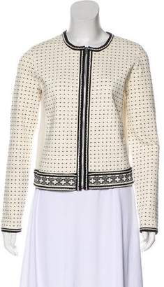 Tory Burch Embroidered Knit Jacket