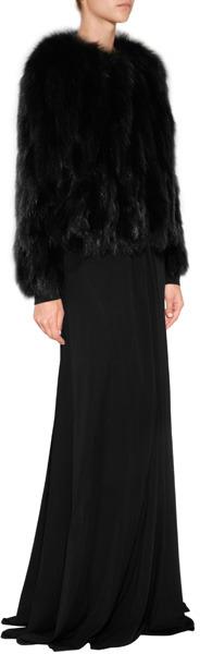 Hockley Fox Fur Protea Jacket in Black/Brown